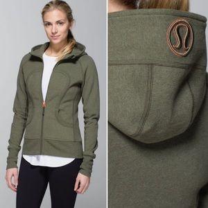 Lululemon Scuba hoodie ll Heathered fatigue green